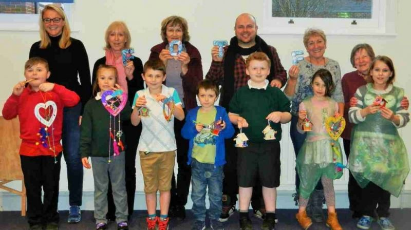 kids get creative at friends of the family workshop in winchester