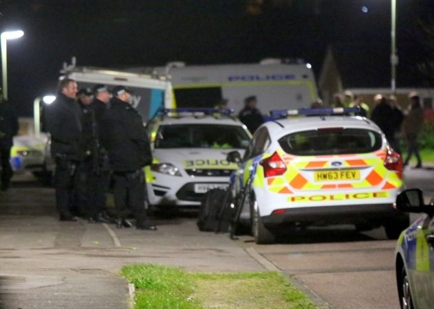 Armed Police Seal Off Bellfield Road In Titchfield