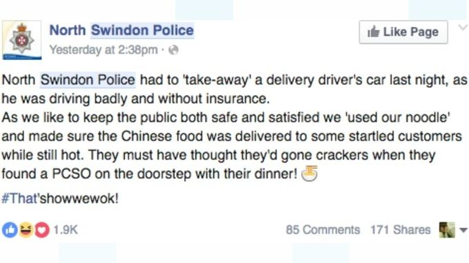 Customer Must Of Thought Police Were Crackers