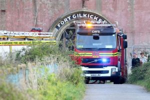 Mindless Arsonists Put Fire Fighters In Danger After Fort Gilkicker Fire