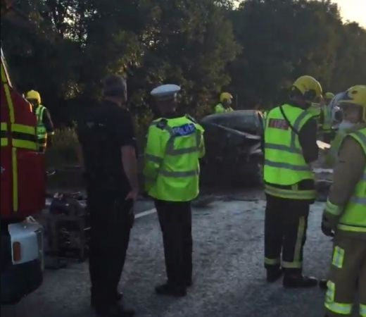 Pensioner Fighting For Her Life After Head-on Crash Near West Wellow