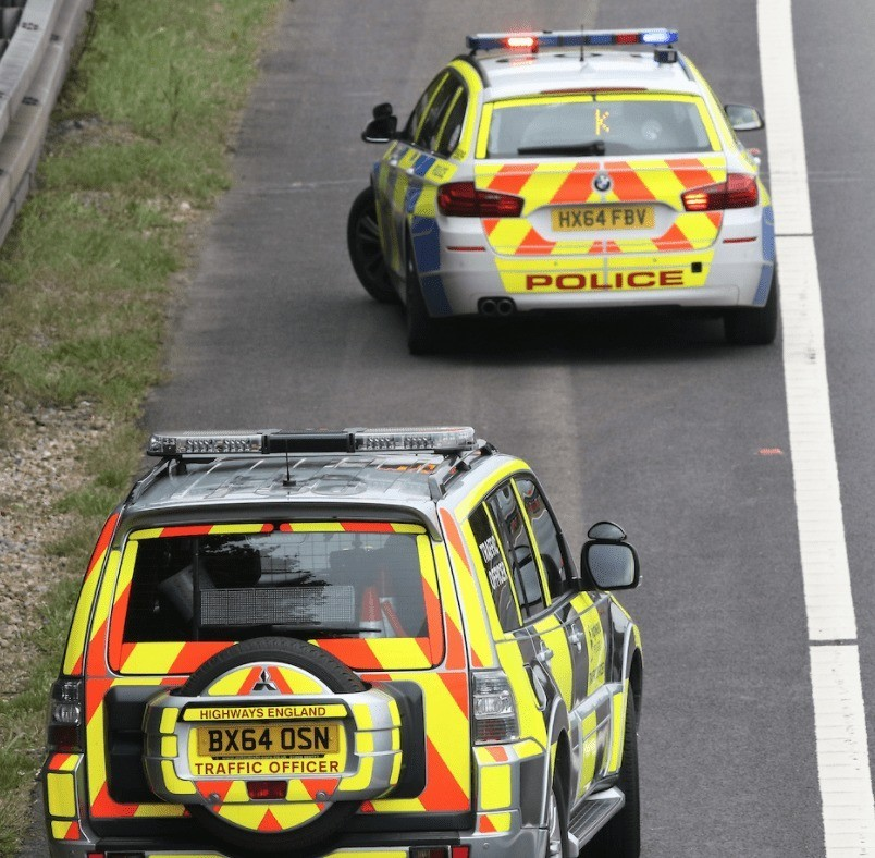 M27 Motorway Junction Closed After Car Hits Central Reservation