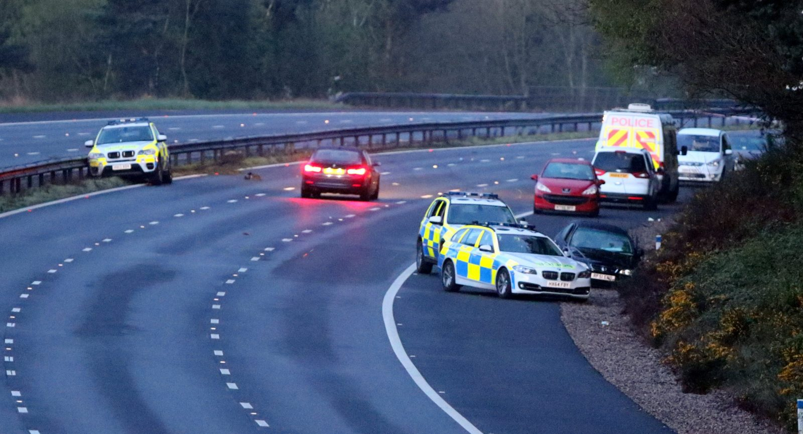 Exclusive :police Vehicles Worth 250k Written Off After Serious Police Chase  On M27 In Hampshire