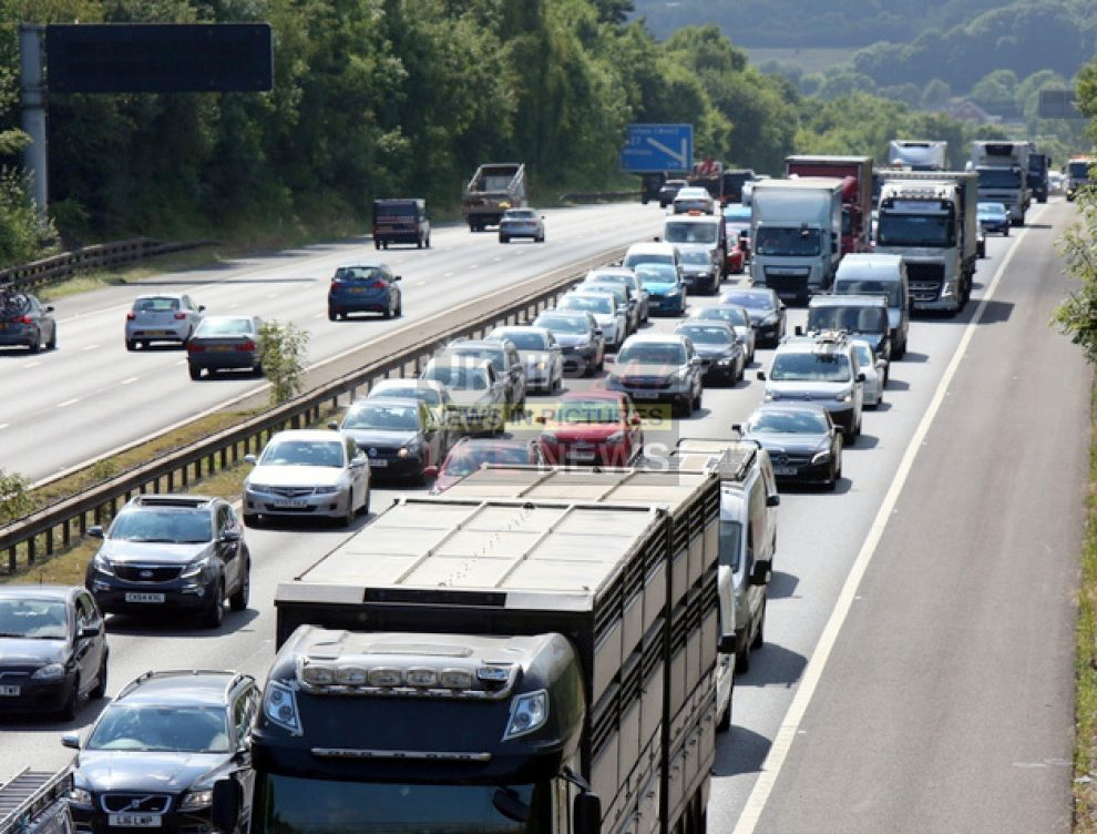 Six Miles Of Jams After Crash On The M3/m27 Interchange  Near Eastleigh