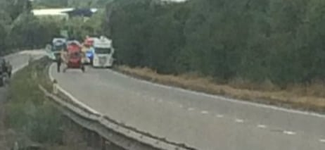 a12 closed in essex after a person is hit by a ve