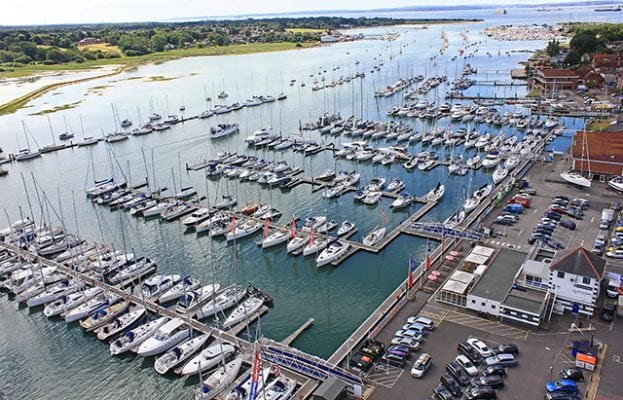 antisocial individuals are out in force on the hamble harbour