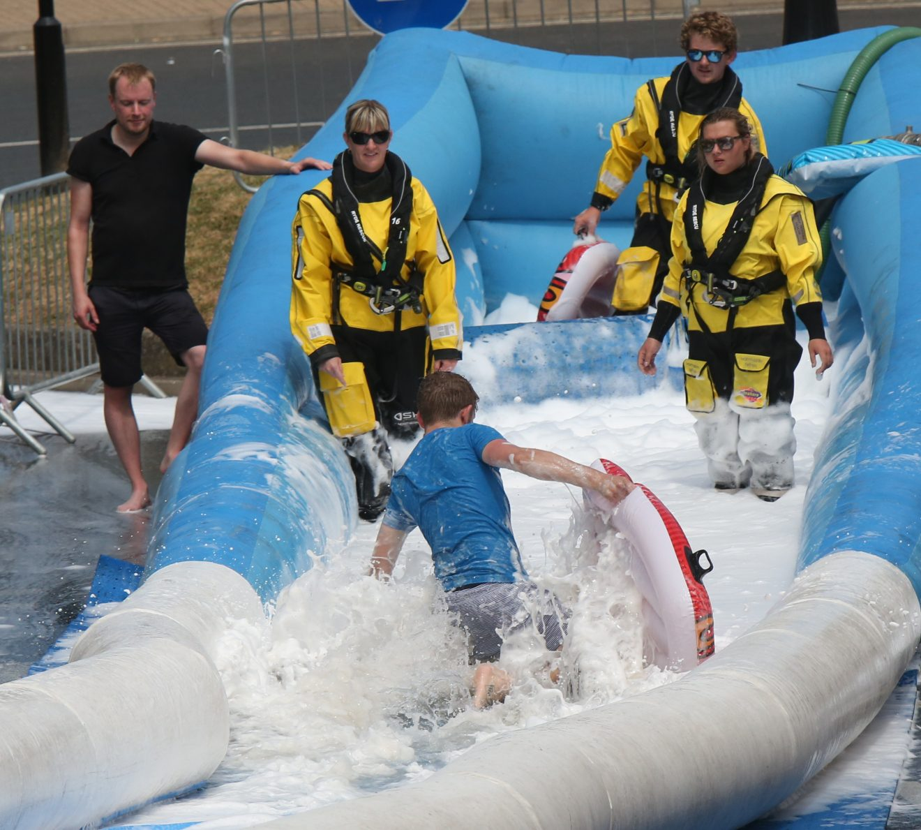 be of action from the 200 metre ryde slide