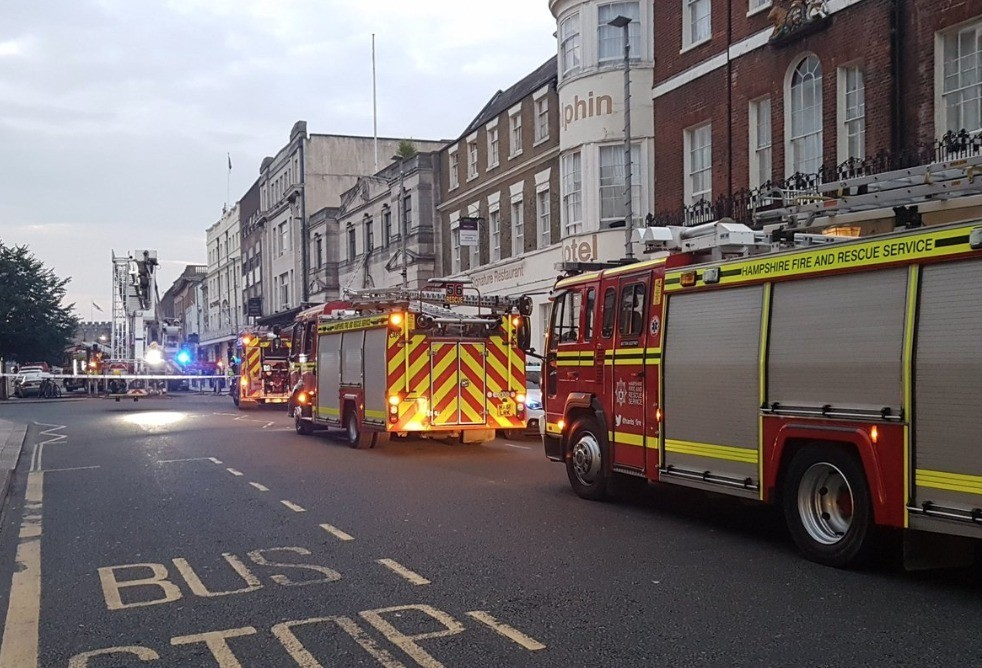 fire takes hold at the dolphin hotel in southampton