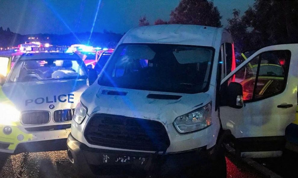 kent-police-arrest-five-after-van-is-driven-through-shop-front-in-aylesford