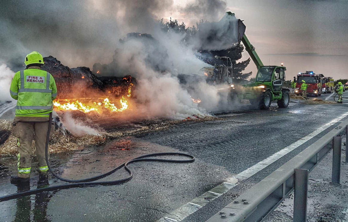 ManyTrapped for 12 Hours + following Hay and HGV fire the M11 near Stanstead