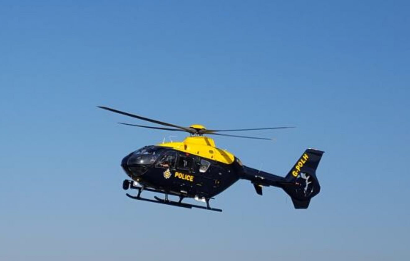 national police air support called to sandown on the isle of wight