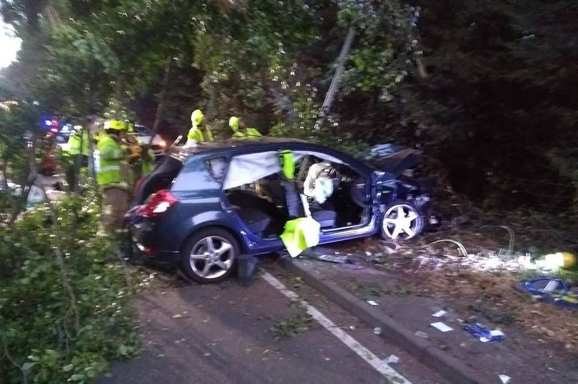 pensioner seriously ill after car ploughed into treen