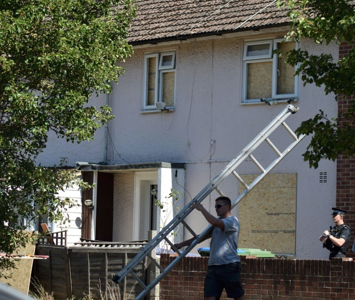 police board up home of suspected killer due to worries of reprisal attacks in southampton