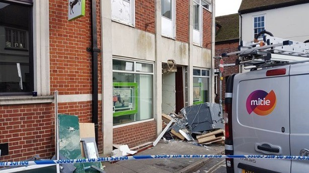 Replacement Atm To Be  Fitted By The End Of The Month Following Ram Raid