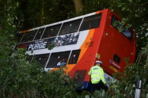 Oakley Bus Crash after driver of the bus had a seizure and lost control