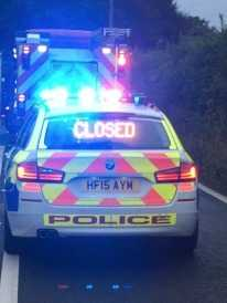 a31 in dorset is closed in both directions near bere regis following serious collision