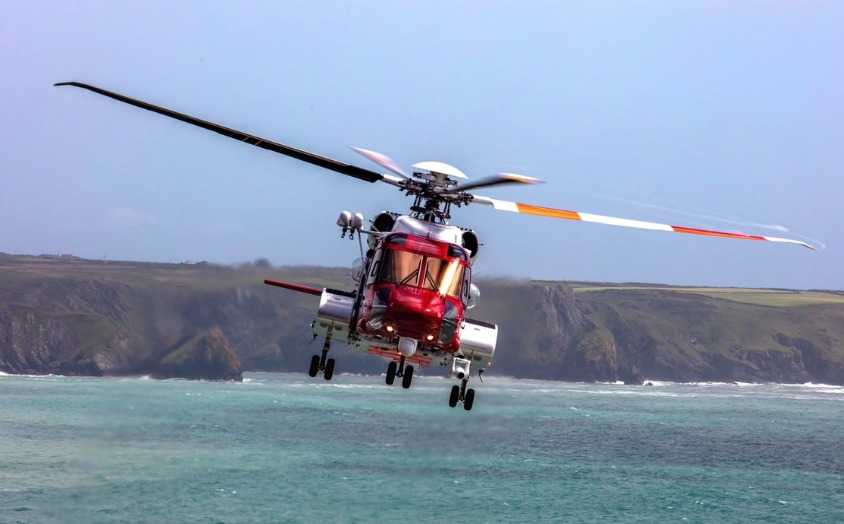 baby boy born on board newquay coastguard helicopter on route to hospitial