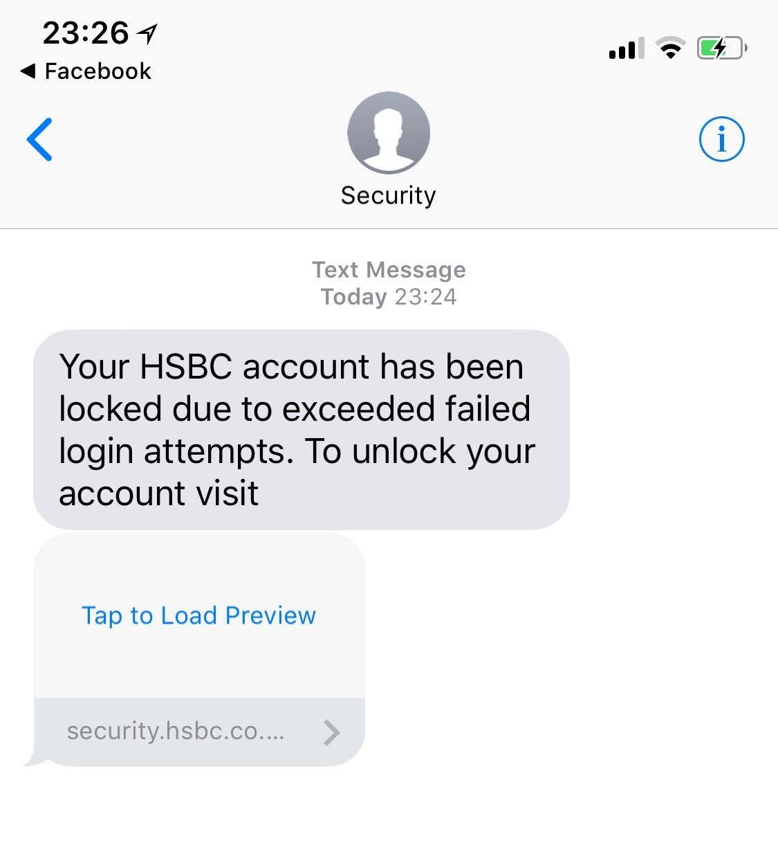 HSBC text scam be mindful - UK News In Pictures News