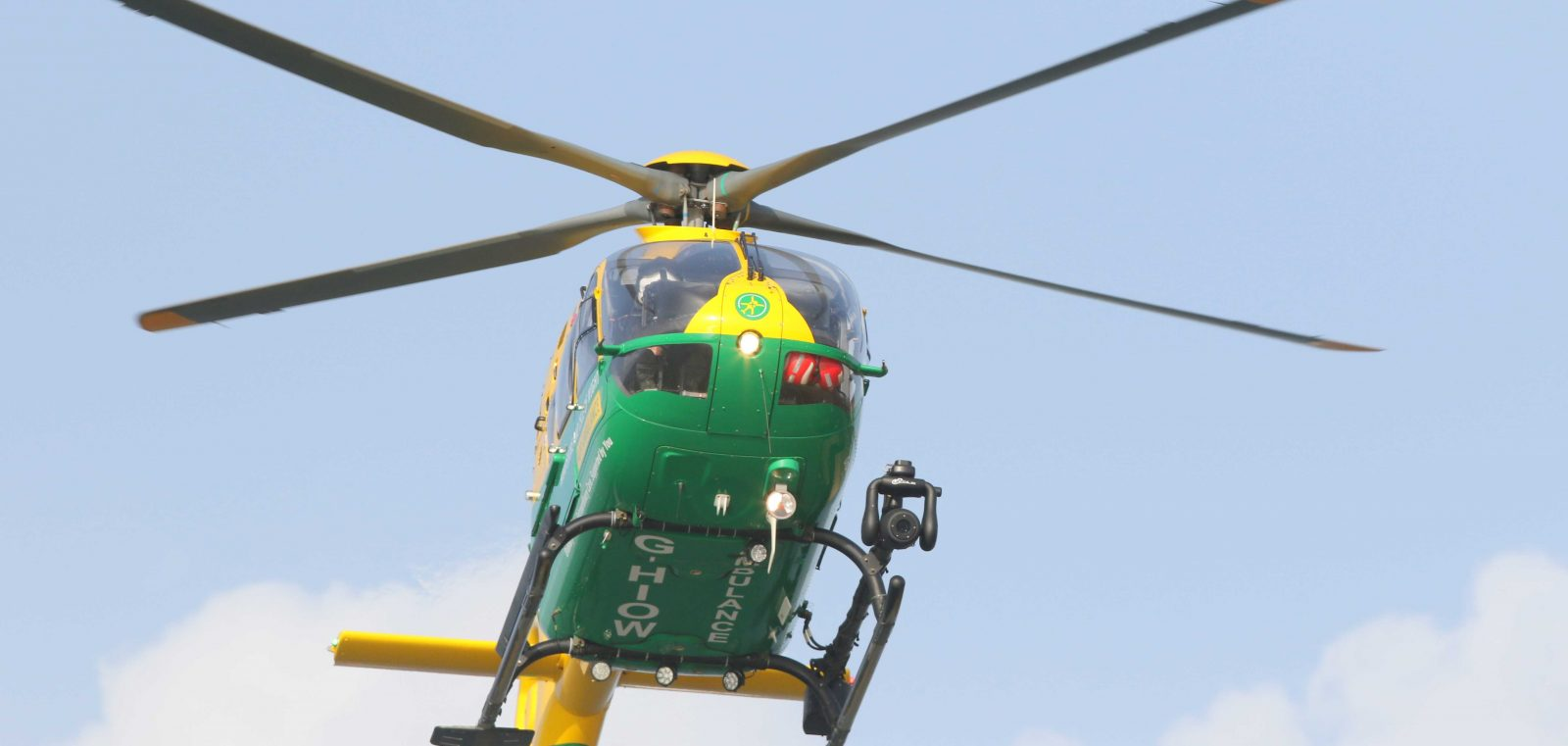 hampshire and isle of wight air ambulance called to lake on the isle of wight