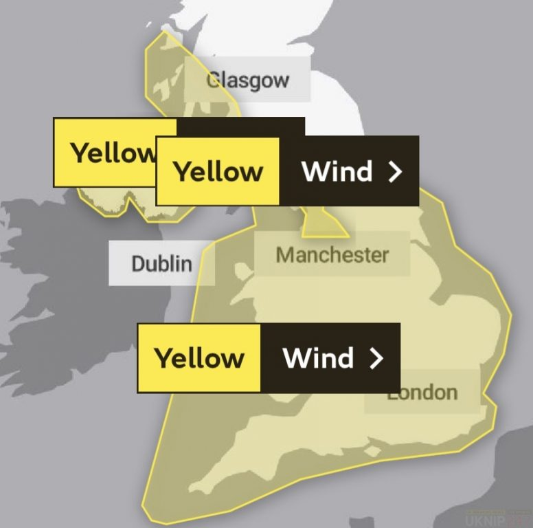 upgraded yellow weather warning issued for isle of wight