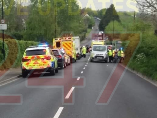 serious collision closes major road between newport and cowes
