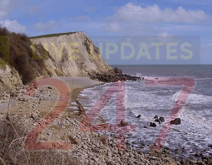 caostguard team called to suspected ordanance at woody bay on the isle of wight 1