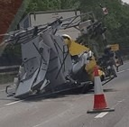 delays on m20 following collision leaving two lanes closed