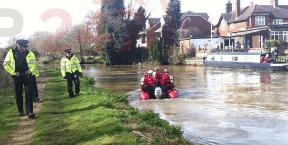 man after being pulled from the river wey in guidlford