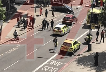 serious collision in brixton