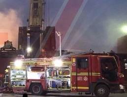 ten fire app have been mobilised to a major fire onboard a ship in southampton