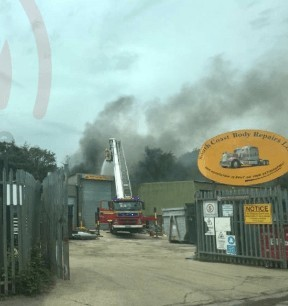 Arson probe launched after blaze rips through Titchfield car dealership