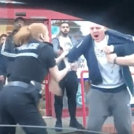 When did it become acceptable to assault a police officer?